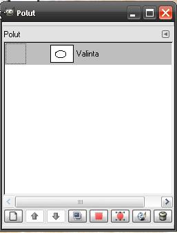 Valinta-ikkunassa valinta poluksi-painike